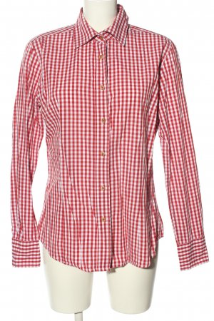 Luis Steindl Trachtenhemd rot-weiß Karomuster Casual-Look