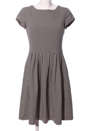 Luis Trenker A-Linien Kleid braun-weiß Allover-Druck Business-Look