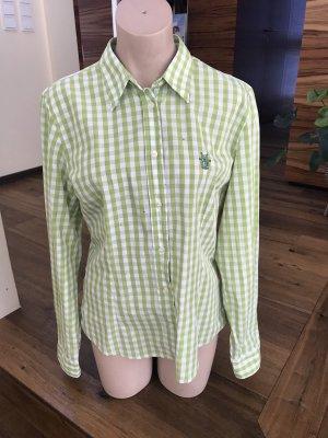 Luis Trenker Tradycyjna bluzka zielony-biały