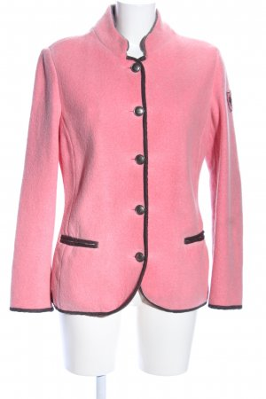 Luis Trenker Fleecejacke pink-schwarz Casual-Look