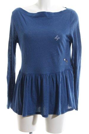 Luis Trenker Shirttunika blau Casual-Look