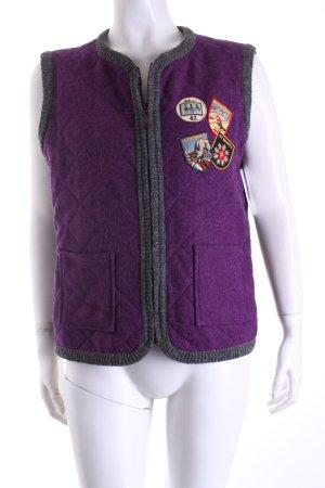 Luis Trenker Gilet bavarois violet style mode des rues