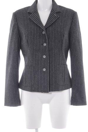 Luis Trenker Woll-Blazer grau-schwarz Streifenmuster Elegant