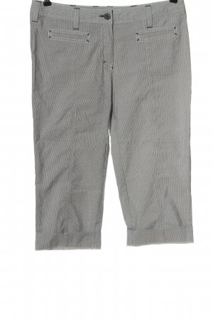 Luisa Cerano 3/4 Length Trousers light grey-white striped pattern casual look