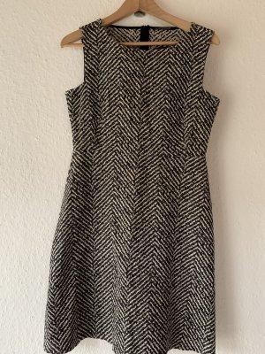 Luisa Cerano A-Linien Kleid schwarz/weiß gemustert casual