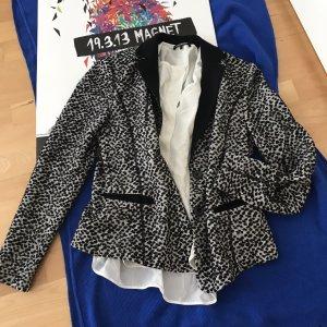 Luisa Cerano Blazer in lana nero-bianco sporco
