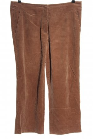 Luisa Cerano Pantalon en velours côtelé brun style décontracté