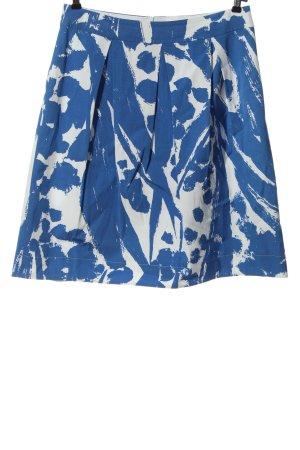 Luisa Cerano Faltenrock blau-weiß abstraktes Muster Casual-Look