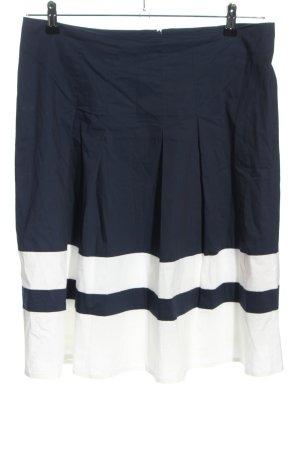 Luisa Cerano Gonna a pieghe blu-bianco stile casual