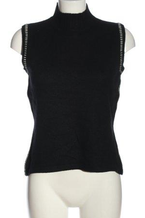 Luisa Cerano Sweter bez rękawów z cienkiej dzianiny czarny W stylu casual