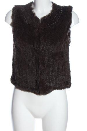 Luisa Cerano Fur vest brown casual look