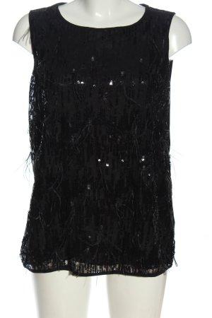Luisa Cerano Glanzende blouse zwart elegant