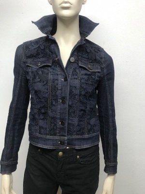 Luisa Cerano Denim Jacket dark blue cotton