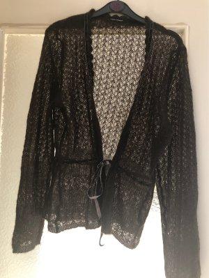 Luisa Cerano Crochet Cardigan dark brown