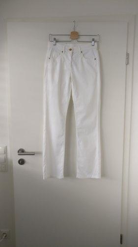 Luisa Cerano Tube Jeans white-gold-colored