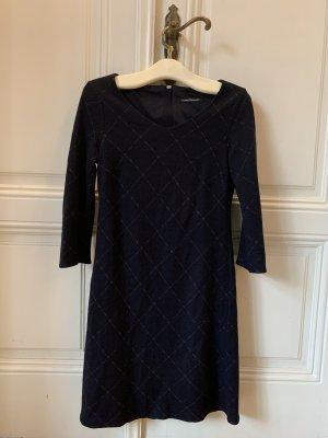 Luisa Cerano Vestido de lana azul oscuro
