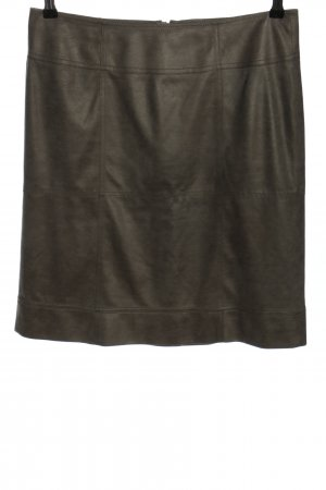 Luisa Cerano Faux Leather Skirt green casual look
