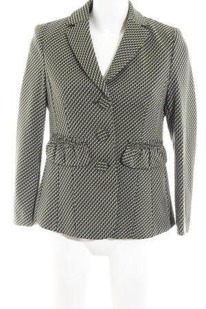 Luisa Cerano Kurz-Blazer olivgrün-dunkelgrün abstraktes Muster Business-Look