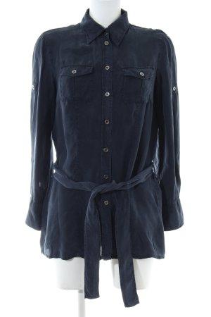 Luisa Cerano Langarm-Bluse blau Casual-Look