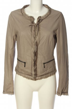 Luisa Cerano Leather Blazer natural white casual look