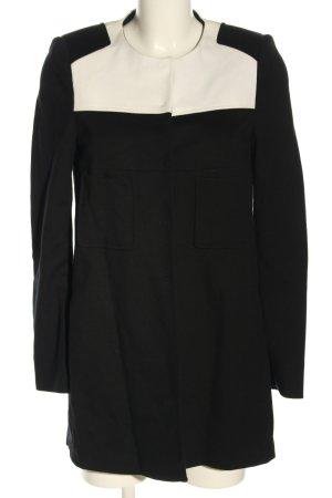 Luisa Cerano Lange blazer zwart-wit zakelijke stijl