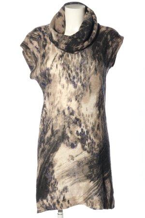 Luisa Cerano Cardigan long noir-brun motif graphique style décontracté