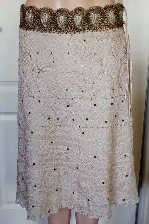 LUISA CERANO Luxus Designer Rock! Gr. 44! 100% Seide! Bund mit Perlen, Unterrock