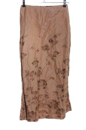 Luisa Cerano Falda larga marrón estampado floral elegante