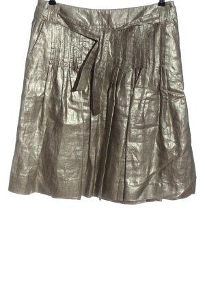 Luisa Cerano Plaid Skirt silver-colored elegant