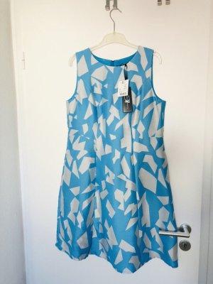Luisa Cerano Robe mi-longue turquoise-argenté tissu mixte