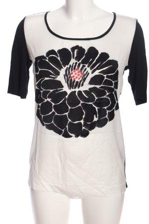 Luisa Cerano Print-Shirt schwarz-weiß Motivdruck Casual-Look