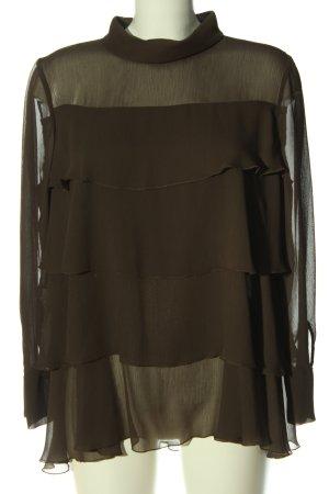 Luisa Cerano Ruffled Blouse brown elegant
