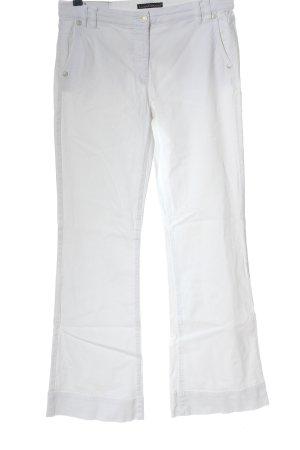 Luisa Cerano Pantalon pattes d'éléphant blanc style décontracté