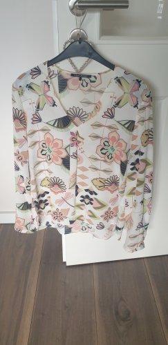 Luisa Cerano Long Sleeve Blouse multicolored silk