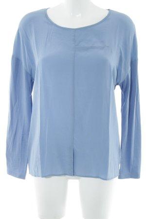 Luisa Cerano Seidenbluse in blau,  schlichter Stil