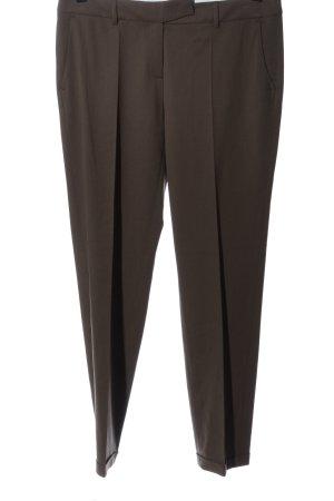 Luisa Cerano Pantalone jersey marrone stile professionale
