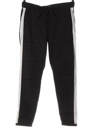 Luisa Cerano Pantalone jersey nero-bianco stile casual