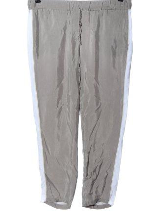 Luisa Cerano Pantalone jersey grigio chiaro effetto bagnato