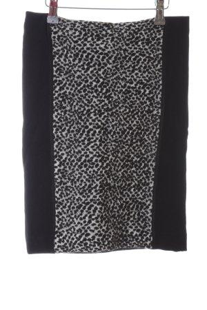 Luisa Cerano Stretchrock schwarz-weiß Leomuster extravaganter Stil