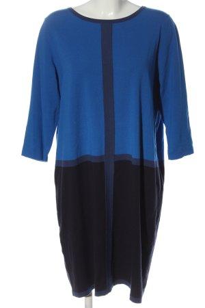 Luisa Cerano Strickkleid blau-schwarz Streifenmuster Casual-Look