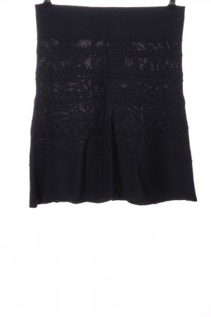 Luisa Cerano Knitted Skirt black casual look