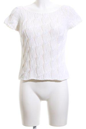 Luisa Cerano T-shirts en mailles tricotées blanc torsades style décontracté