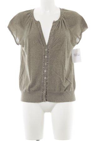 Luisa Cerano Haut tricotés gris vert style décontracté