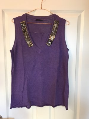 Luisa Cerano Haut tricotés violet foncé-gris