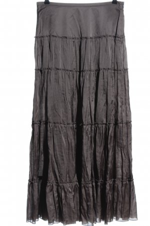 Luisa Cerano Broomstick Skirt brown casual look