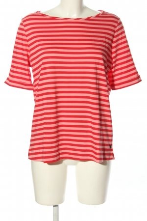 Luisa Cerano T-Shirt rot-nude Streifenmuster Casual-Look