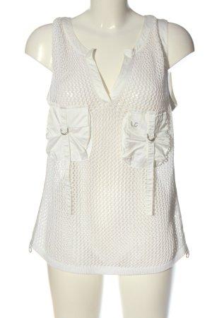 Luisa Cerano Transparante blouse wit elegant