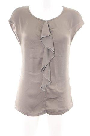 Luisa Cerano Top con balze grigio chiaro stile casual