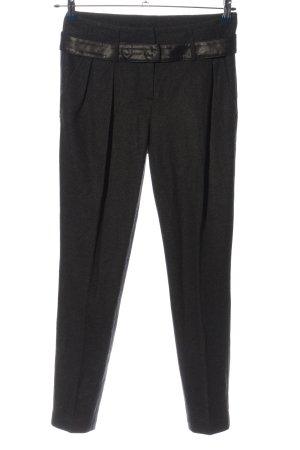 Luisa Cerano Woolen Trousers black flecked business style