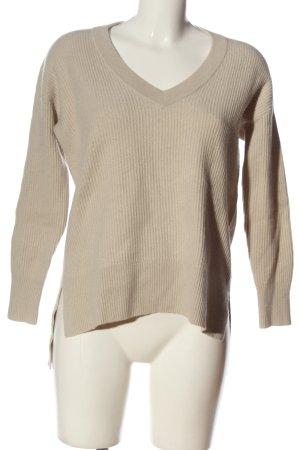 Luisa Cerano Wool Sweater cream striped pattern casual look